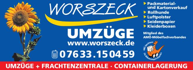 Anzeige Worszeck Möbelspedition Logistic GmbH