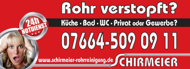 Anzeige Schirmeier Rohrreinigung