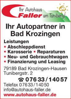 Anzeige Faller Autohaus