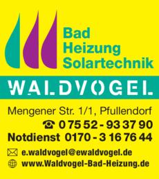 Anzeige Bad-Heizung Waldvogel