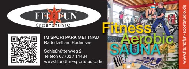 Anzeige fit & fun Sportstudio