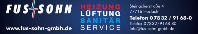 Anzeige Fus u. Sohn GmbH