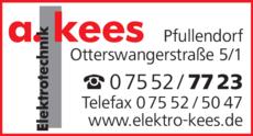 Anzeige Kees Andreas GmbH , Elektrotechnik