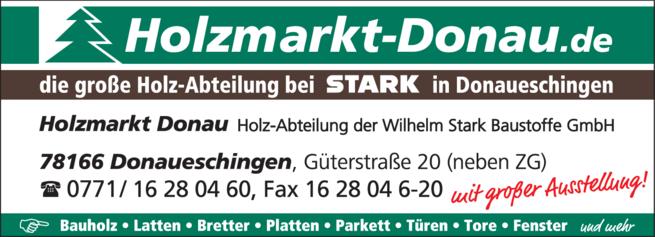 Anzeige Holzmarkt Donau / Holz - Parkett - Fenster - Türen - Tore