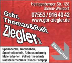 Anzeige Ziegler Thomas & Ralf Gebr.