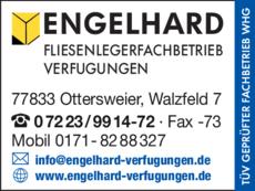 Anzeige Engelhard Verfugungen