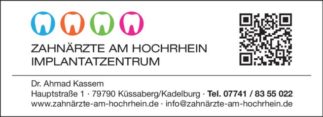 Anzeige Zahnärzte am Hochrhein Implantatzentrum