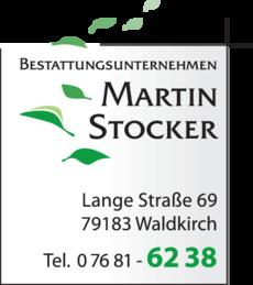 Anzeige Stocker Martin , Bestattungsunternehmen