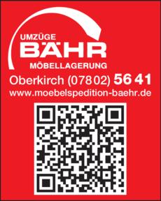 Anzeige Bähr Ignaz GmbH