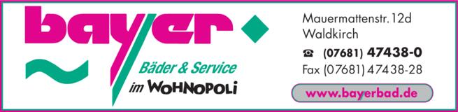 Anzeige Bayer Bäder & Service