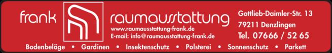 Anzeige Frank Raumausstattung