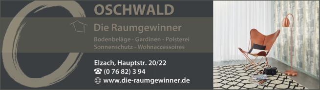 Anzeige OSCHWALD Wohnen & Mehr GmbH