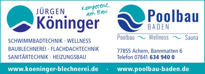 Anzeige Köninger Jürgen