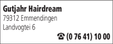 Anzeige Gutjahr Hairdream GmbH