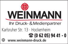 Anzeige Weinmann Druck