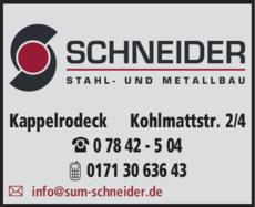 Anzeige Schneider GmbH
