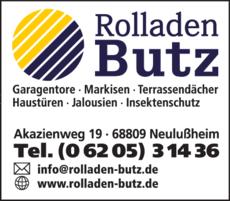 Anzeige Butz Hans Jürgen