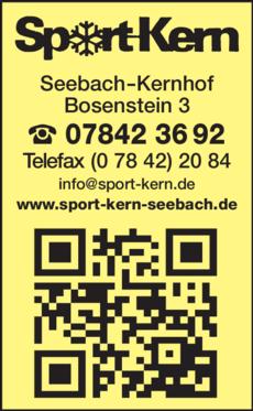 Anzeige Kern Sport