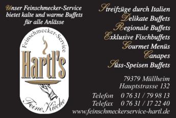 Anzeige Hartl Feinschmecker-Service