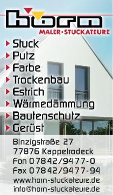 Anzeige Horn Maler und Stuckateure GmbH