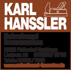 Anzeige Hanssler Karl, Schreinerei