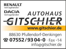 Anzeige GITSCHIER AUTO