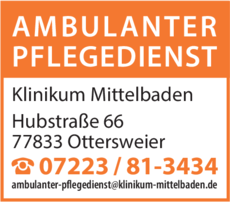 Anzeige Klinikum Mittelbaden