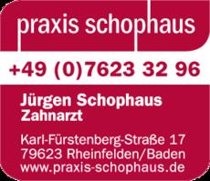 Anzeige Zahnarzt Schophaus Jürgen