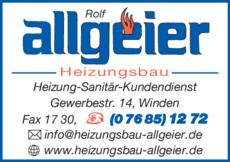 Anzeige Allgeier Rolf