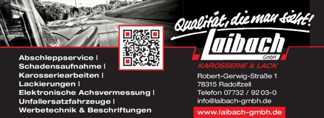 Anzeige Laibach GmbH