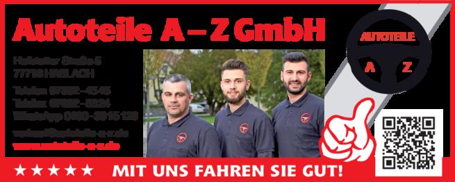 Anzeige Auto Autoteile A-Z GmbH