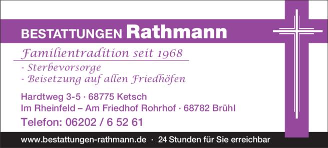 Anzeige Rathmann Bestattungen