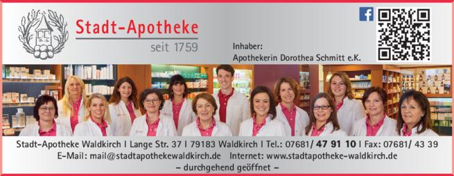 Anzeige Stadt-Apotheke
