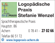 Anzeige Wenzel Stefanie , Praxis für Sprachtherapie