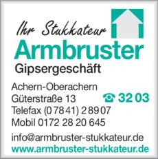 Anzeige Armbruster Werner