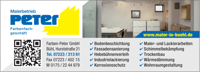 Anzeige Farben Peter GmbH