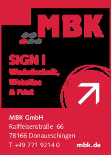 Anzeige Beschriftungen MBK GmbH