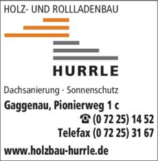 Anzeige Hurrle Holz- und Rollladenbau