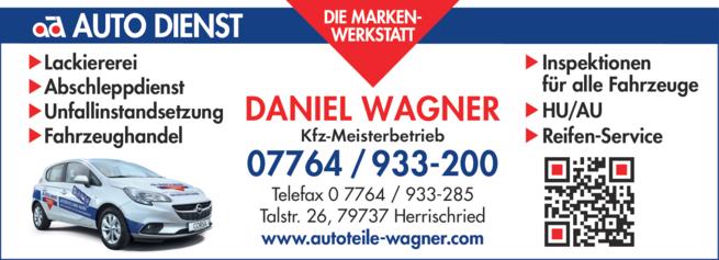 Anzeige Wagner Daniel