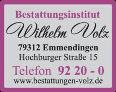 Anzeige Volz Wilhelm
