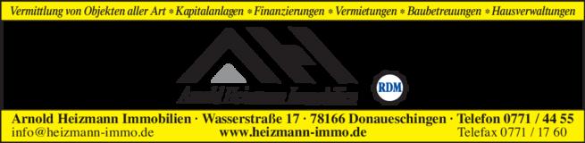 Anzeige Heizmann Arnold