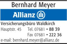 Anzeige Allianz Versicherung Meyer Bernhard