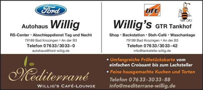 Anzeige Willig GmbH