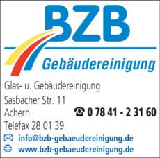 Anzeige BZB Gebäudereinigung