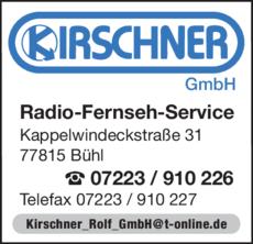 Anzeige Kirschner GmbH
