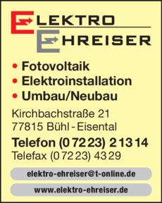 Anzeige Ehreiser Andreas
