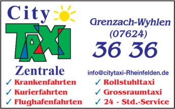 Anzeige City Taxi GmbH