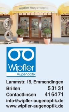 Anzeige Wipfler Augenoptik GmbH