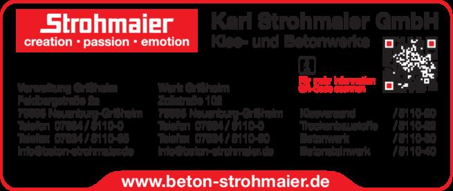 Anzeige Strohmaier Karl GmbH