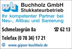 Anzeige Buchholz GmbH